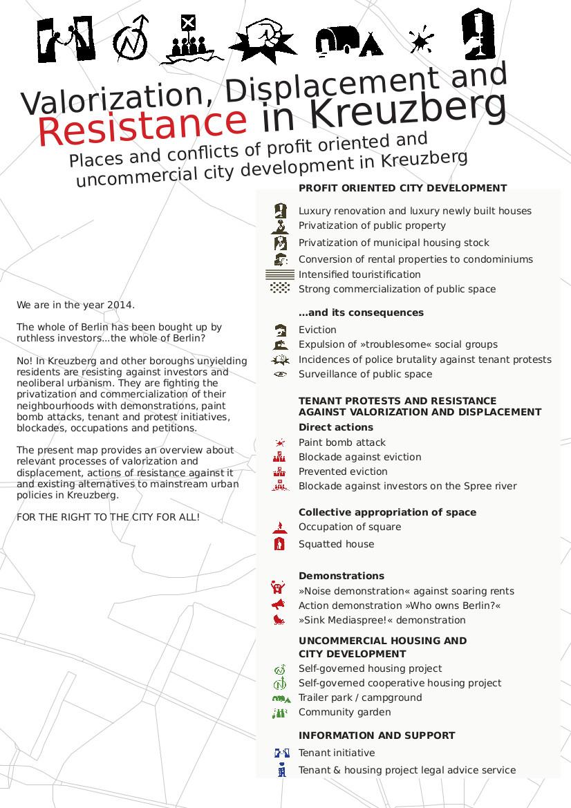Kreuzberg-Karte Aufwertung Verdrängung Widerstand (2014)_legendENGLISH